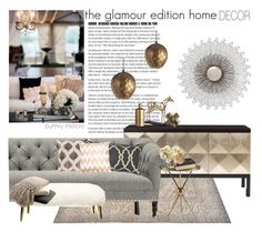 """""""the glamour edition home decor"""" by punnky-interiors ❤ liked on Polyvore featuring interior, interiors, interior design, home, home decor, interior decorating, Belle Meade Signature, Bungalow 5, Bloomingville and Regina-Andrew Design"""