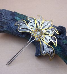 Vintage hair comb Indonesian Sumatra silver and by ElrondsEmporium, $35.00