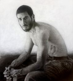 Marcos Rey ~ Seated man (pencil)