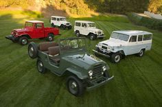 Vintage Toyota Land Cruisers.
