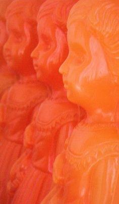 Creepy dolls in similar bright tones. Are they made of wax? Orange Aesthetic, Aesthetic Colors, Coral, Aqua Blue, Yellow, Orange You Glad, Colorful Roses, Orange Crush, Orange Is The New Black