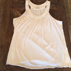 Cute white flowy top Cute cotton flowy top Old Navy Tops Tank Tops