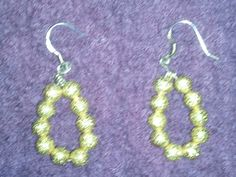 925 sterling silver and gold bead earrings sale by garybushwacker, WAS 20.00 NOW 12.00 FREE SHIPPING