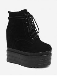 Platform Tie Up Ankle Boots