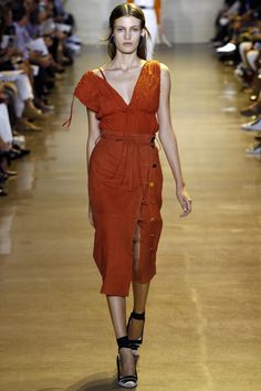 Leave the skirt buttoned for your half-day in the office Friday, pop a few open for happy hour, a few more for dancing. Altuzarra Spring 2016 Ready-to-Wear Fashion Show - Model: Louise Lefebure