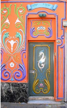 ♅ Detailed Doors to Drool Over ♅ art photographs of door knockers, hardware & portals - Buenos Aires, Argentina