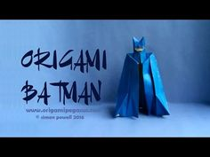 In this video I will demonstrate how to make an Origami Batman designed by Ángel Morollón Guallar. I have used a sheet of paper that is dark blue on one side. Origami And Quilling, Oragami, Olaf Craft, Diy Exploding Box, Fun Crafts, Paper Crafts, Origami Diagrams, Hat Tutorial, Ash Ketchum