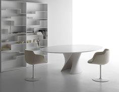 MDF Italia S Table Elle Decoration International Design Award 2008 Dining Table Design, Dining Table Chairs, Table Furniture, Home Furniture, Furniture Design, Oval Table, Table Height, Elle Decor, Chair Design