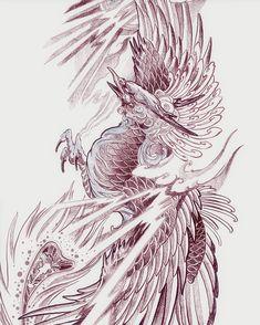 Grey Ink Tattoos, Sharpie Tattoos, Body Art Tattoos, Crow Tattoos, Ear Tattoos, Phoenix Design, Phoenix Tattoo Design, Phoenix Tattoos, Neo Tattoo