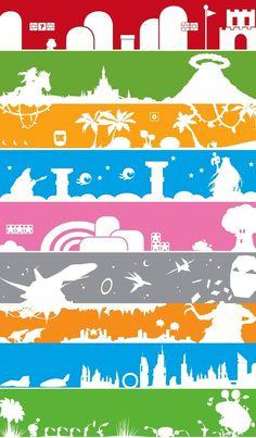 (R)Mario (G)Zelda (O)DonkeyKongCountry (B)KidIcarus (P)Kirby (G)StarFox (O)Metroid (B)F-Zero (G)Pikmin