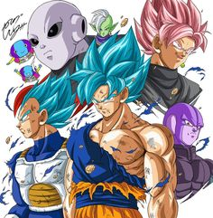 """Battle for Survival!"" Drawn by: Young Jijii #SonGokuKakarot"