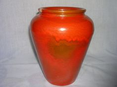 EARLY 30'S CATALINA ISLAND POTTERY TOYON RED VASE OIL JAR DRIP GLAZE CALIFORNIA