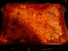 I also baked this lasagna in the electric roaster oven.