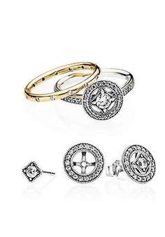 Match your earrings to gorgeous PANDORA rings. #PANDORATexas #PANDORArings #PANDORAearrings Pandora Earrings, Silver Rings, Bracelets, Jewelry, Jewlery, Jewerly, Schmuck, Jewels, Jewelery