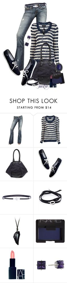 """Casual Day"" by jackie22 ❤ liked on Polyvore featuring True Religion, rag & bone, Diesel, Madewell, Balenciaga, Ginette NY, NARS Cosmetics, Kenneth Jay Lane, women's clothing and women"