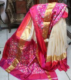 Pink Ikkat Silk Saree Sarees on Shimply.com