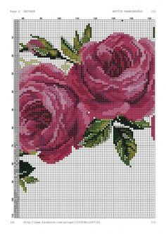 Geri Dönüşüm Projeleri Cross Stitch Rose, Cross Stitch Flowers, Cross Stitch Embroidery, Cross Stitch Patterns, Prayer Rug, Rose Bouquet, Beaded Earrings, Embroidery Designs, Diy And Crafts