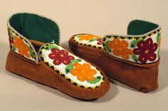 Beaded Moccasins 12 - Beadwork, Beading, Beaded Moccasins, Native Design, Quill, First Nations, Slippers, Projects, Crafts