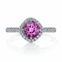 Omi Prive: Pink Sapphire and Diamond Ring Style: RS1250C-PSRD