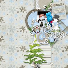 Page by Atusia using Template from GS January Monthly Mix Kit: All that glitters by Aprilisa