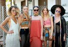 Mia Moretti (second from the left) and Katy Perry (center) at the 2015 Coachella festival. Photo: Rachel Murray/Getty Images for Coachella