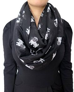 This pug print infinity loop women scarf is very comfortable to wear, soft and adds perfection to your clothing.  You can prefer wearing the scarf either every day to work or on special occasions.  And a scarf is a great way to add style to y...