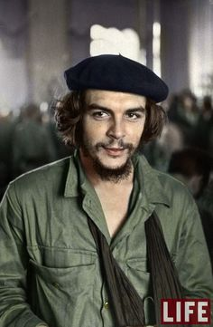 """A colorization of the famous 1959 LIFE Magazine cover featuring Ernesto """"Che"""" Guevara. Guevara was instrumental in the two-year revolution that ousted the Batista regime in Cuba. Colorized History, Colorized Photos, Life Magazine, Ernesto Che Guevara, Fidel Castro, Iconic Photos, Famous Faces, Revolutionaries, Historical Photos"""