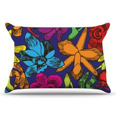 East Urban Home Lovely Orchids by Yenty Jap Pillow Sham Size: King