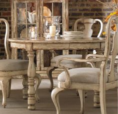 "500475201 in by Hooker Furniture in Denison, TX - Wakefield Round Leg Dining Table w/1-21"" leaf"