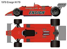 1979 Ensign N179 formula 1 Ground Effects, Mclaren Mp4, Car Drawings, F 1, Grand Prix, Race Cars, Racing, Bike, Amigos