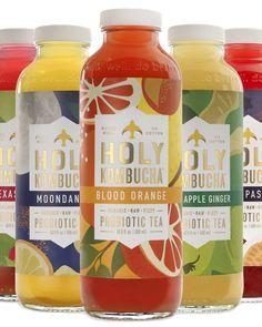 Holy Kombucha Best Kombucha, Kombucha Brands, Kombucha Drink, Kombucha Bottles, Drink Bottles, Organic Raw Kombucha, Fermented Tea, Pineapple Coconut