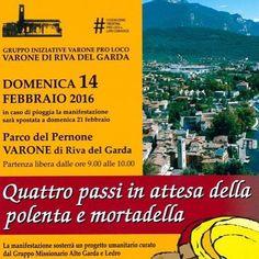 14.02 Per #carnevale camminate e #gusto polenta e mortadella nello stupendo paesaggio del @gardatrentino