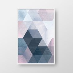 Printable Geometric Poster, Scandinavian Print, Nordic Poster, Modern Geometric Poster, Triangle Print, Blue Print, Modern Wall Art by DreamPrintDesigns on Etsy https://www.etsy.com/au/listing/457941550/printable-geometric-poster-scandinavian
