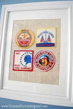 Love this idea for all of those old girl scout badges!