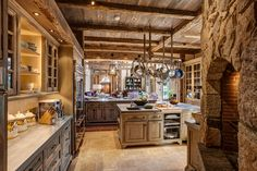 This French Normandy-inspired farmhouse was designed by Charles Hilton Architects, nestled on four-acres in the countryside of Greenwich, Connecticut. English Country Kitchens, English Country Decor, Country Farmhouse Decor, French Country Decorating, Country Homes, Country Western Decor, Country Blue, Kitchen Styling, Kitchen Decor