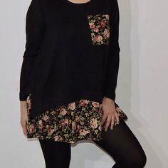 Novedad! Nuestro vestido Girasol combina tejido con punto una monada visita www.myleov.es #vestidos #vestido #moda #tendencias #myleov #flores #look