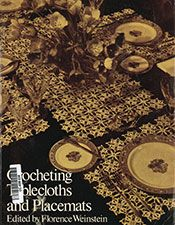 Crocheting Tablecloths and Placemats Vintage Knitting, Vintage Crochet, Crochet Tablecloth, Tablecloths, Pattern Books, Florence, Crocheting, Kitty, Purple