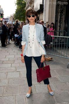 """Ines de la Fressange, """"conseillère en style"""" pour la collection du Printemps-Été 2013 de La Redoute."""