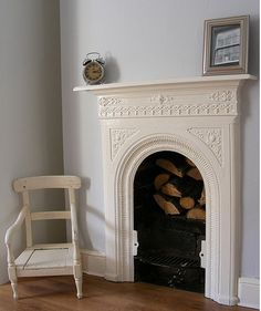 Such a neat idea if the back of the fireplace led to a safe room.especially if there was a way to light a fire from the saferoom side! Living Room Inspo, Home, Home Fireplace, Victorian Bedroom, Cast Iron Fireplace, Safe Room, Cast Iron Fireplace Bedroom, Fireplace, Dream Rooms