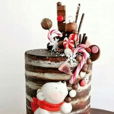 christmas cake Elegant Image of Christmas Birthday Cakes . Christmas Birthday Cakes Im Thinking This Could Be Turned Into A Drip Cake Very Easily Christmas Birthday Cake, Christmas Sweets, Noel Christmas, Christmas Baking, Birthday Cakes, Christmas Cakes, Xmas Cakes, Christmas Chocolate, Christmas Fireplace