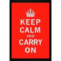 Red Keep Calm and Carry On wall art