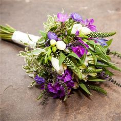 Rustic purple wedding flowers, veronica