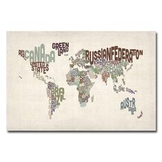 Sheet music map of the world art print absolutely love this could world text map canvas art gumiabroncs Gallery