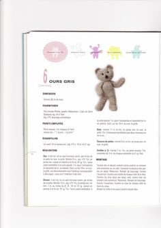 Image - PETIT OURS FACILE A TRICOTER. - Blog de le-tricot-de-marcelle - Skyrock.com Crochet Teddy, Knit Crochet, Preemie Babies, Practical Gifts, Knitted Dolls, Unusual Gifts, Baby Dolls, Diy And Crafts, Knitting Patterns