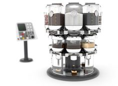 The Virtuoso Mixer is a machine composed of a three-layer rotating carousel that provides cooks with an efficient way to mix multiple ingredient variations and experiment with subtle differences in taste and composition.