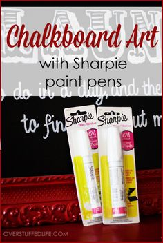 DIY Tutorial: How to make faux chalkboard art on canvas with paint pens. : DIY Tutorial: How to make faux chalkboard art on canvas with paint pens. Sharpie Paint Pens, Sharpie Crafts, Sharpie Art, Sharpies, Paint Markers, Diy Projects To Try, Craft Projects, Craft Ideas, Chalk It Up