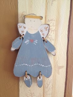 Christmas Angel original wood cutout hand by ChristmasEverlasting, $50.00
