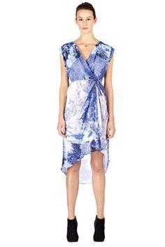 Landscape Print Dress.