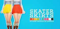 ► younzoey skater skirt, recoloredi know that everyone and their mother have recolored this skirt, but i just had to do it in my own palette. enjoy!comes in 10 colorscustom CAS thumbnailmade using sims 4 studio and photoshop cs6requires the mesh!!all mesh credits go to younzoey, i just recolored it  TOU: do whatever you want, just don't reupload or claim as your own.  download (mega)