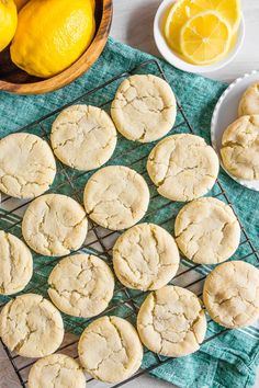These vanilla bean lemon sugar cookies are the perfect addition to your cookie routine. They are packed full of vanilla bean paste, tons of lemon zest and rolled in sugar for a delicious sweet treat. Easy Cookie Recipes, Best Dessert Recipes, Snack Recipes, Cookie Ideas, Sweets Recipes, Baking Recipes, Salted Chocolate Chip Cookies, Raisin Cookies, Lemon Sugar Cookies